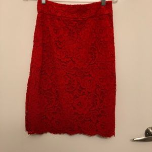 Kate Spade Red Skirt